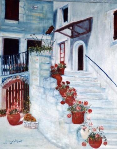 L escalier fleuri