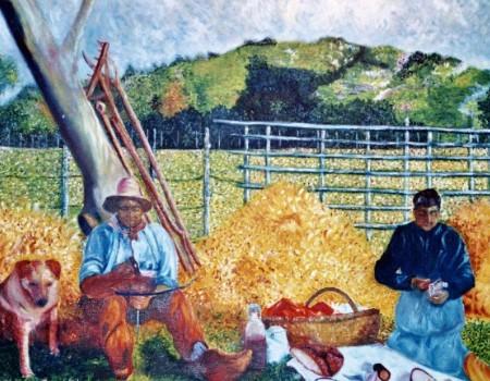 Un repas à la campagne